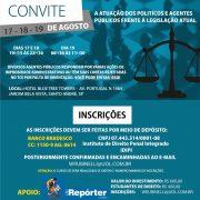 Aberta as inscrições do curso 'Atuação dos Políticos e Agentes Públicos frente a legislação atual'