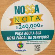 'Nossa Nota' impulsiona a emissão de notas fiscais de serviços em São Caetano